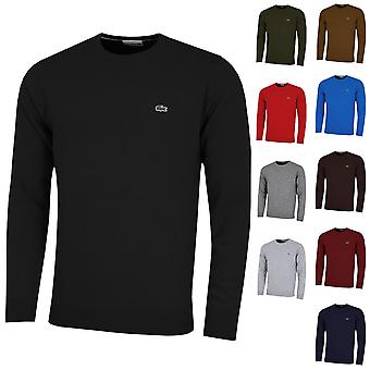 Lacoste Mens AH0841 Crew Neck Wool Jersey Sweater