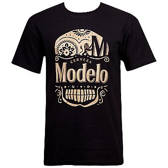 Modelo Especial Gold Ink Day Of The Dead Black T-Shirt