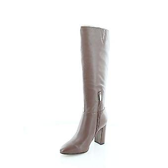 Marc Fisher Womens Zimra Leather Open Toe Mid-Calf Cold Weather Boots