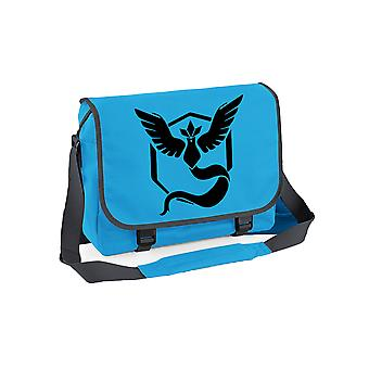 Team mystic messenger bag - pokemon go inspired