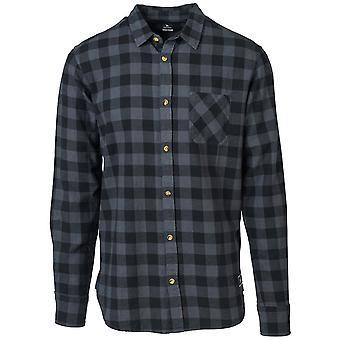 مزق حليقة تحقق من قميص طويل الأكمام باللون الأسود