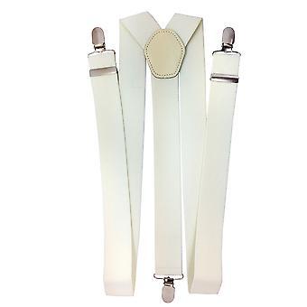 Uomini&s Spandex 1 pollice di larghezza Braces Y Forma Pesante Pesante 3-Clip On Suspenders