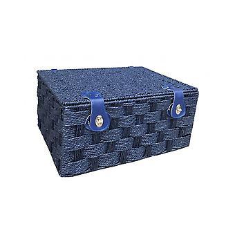 Cesta de piquenique extra grande papel azul torcido