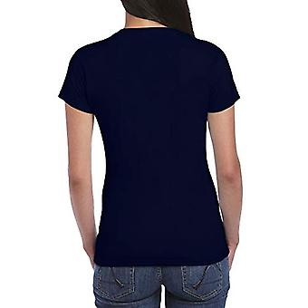 Gildan Women's Fitted Cotton T-Shirt, 2-Pack, Navy, Small, Navy, Taglia Piccolo