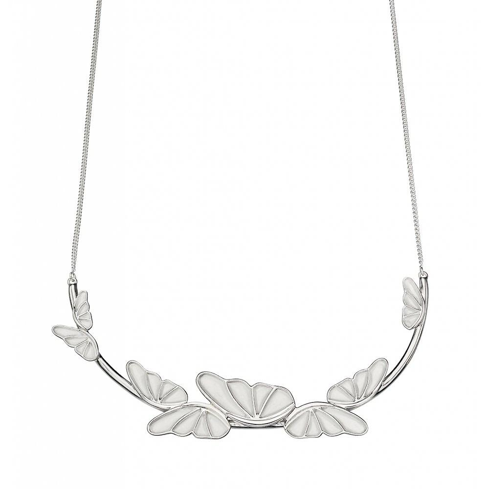 Joshua James Serenity Silver Butterfly Necklace