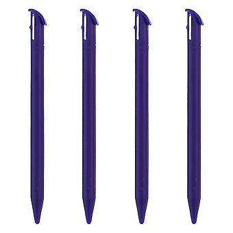 Stylus for new 3ds xl 2015 nintendo (2015 model) slot in replacement pen - 4 pack purple | zedlabz
