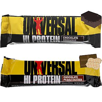 Universal Nutrition Hi Protein Bar (33g each) Box of 16, Low Sugar and Net Carbs