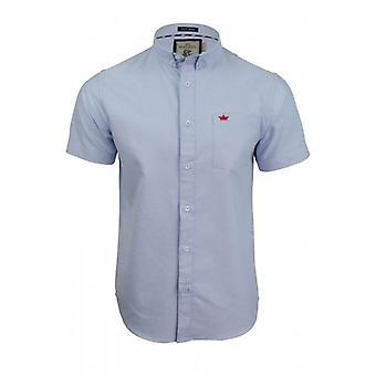 Dappere ziel Mens hoge kwaliteit Shirt dappere ziel Oxford Shirts korte mouwen borstzak