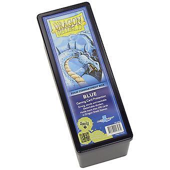 Scatola di stoccaggio Dragon Shield w. 4 scomparti - Blu