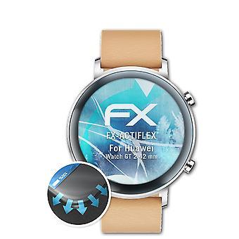 atFoliX 3x Écran protecteur compatible avec Huawei Watch GT 2 42 mm clair&flexible