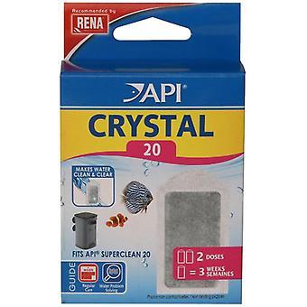 API Crystal Superclean20 X 2 (kala, suodattimet & vesipumput, suodatin sieni ja vaahdon)