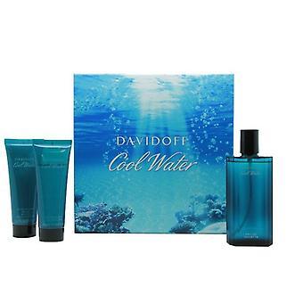 Davidoff Cool Water Gift Set 125ml EDT + 75ml Aftershave Balm + 75ml Shower Gel