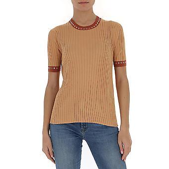 Chloé Chc20ump2760080z Women's Brown Cotton T-shirt