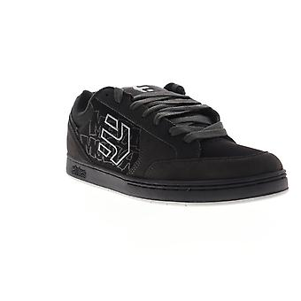 Etnies Metal Mulish Swivel Mens Black Suede Low Top Lace Up Skate Sneakers Shoes
