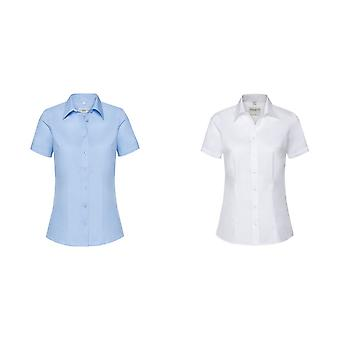 Russell Collection Womens/Ladies Short Sleeve Tailored Shirt