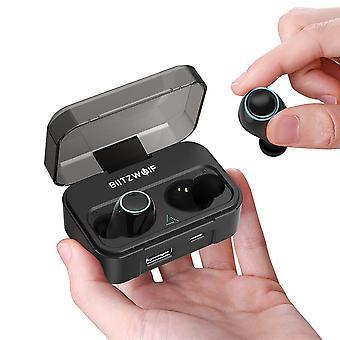Blitzwolf® bw-fye3 bluetooth wireless adevărat 5.0 earphone hifi apeluri bilaterale cu 2600mah power bank (bw-fye3)