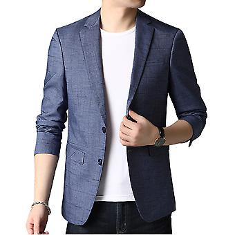 Allthemen Men's Slim Fit Printed Suit Jacket 2 Buttoned Notched Lapel Blazer