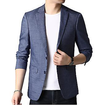 Allthemen Men's Slim Fit Printed Suit Jacket 2 Abotoado Lapel Blazer