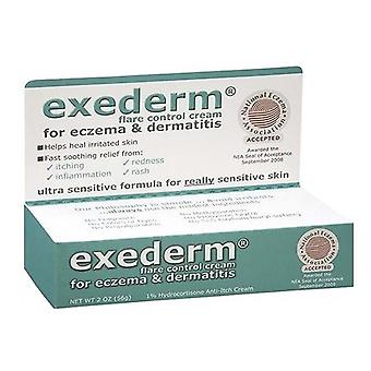 湿疹・皮膚炎、2 オンスの Exederm フレア コントロール クリーム
