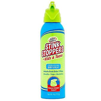 Odor eaters stink stoppers for kids and teens, dry spray, 4 oz