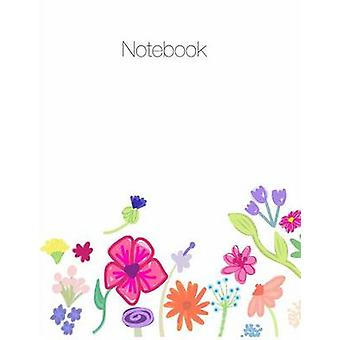 Notebook large 8.5 x 11 ruled  grid notes floral cover theme by Terrazas & April Chloe