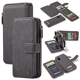 CASEME Samsung Galaxy S20 Retro Leather Wallet Case - Grey