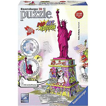 Ravensburger Statue Of Liberty Pop Art Edition 108-Piece 3D Puzzle Puzzle