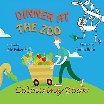Dinner at the Zoo Colouring Book by BakerHall & Mr.