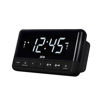 Clock-Radio SPC Floki FM Noir