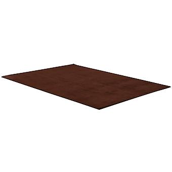 Thick coral velvet rectangular rug for living room