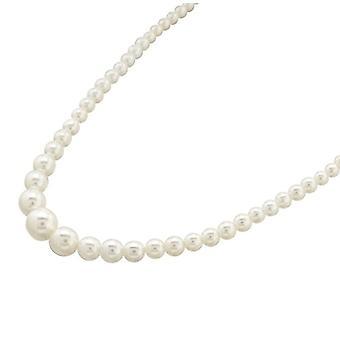 Bijoux pour tous Silver Brass Women's Pearl Necklace - 141539