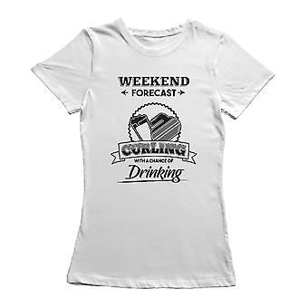 Weekend Forecast Curl Graphic Women's T-shirt