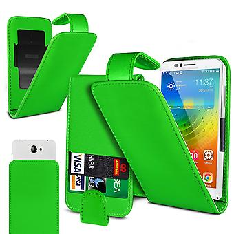 Nokia 1.3 Large Green Clamp Style PU Cuir Flip Phone Case