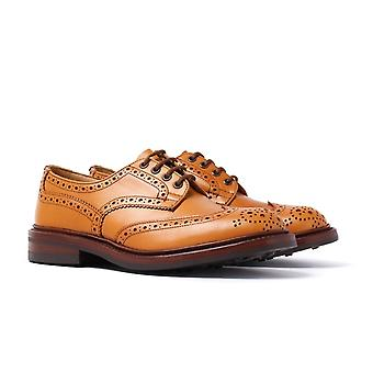Tricker's Bourton Acorn Antique Leather Brogue Shoes