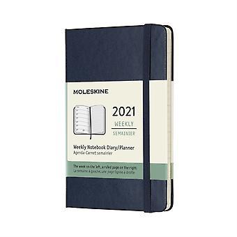 2021 12M Wkly Ntbk Pock Sapphire Blue HD