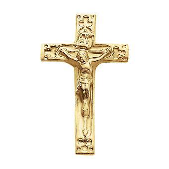14k Gul Guld Krucifiks Revers Pin 20x12mm smykker Gaver til mænd - 1,1 Gram