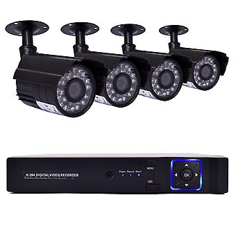 4CH Home Camera CCTV Security System Surveillance 1080P Night Vision Outdoor