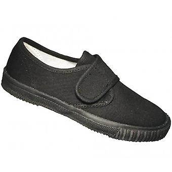 Mirak Schoolrite Kids Canvas Plimsolls Black