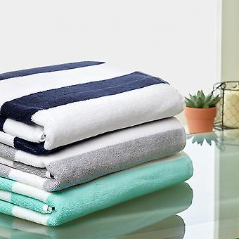 Stripe Pure Cotton Large Pool Towel