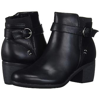 Dr. Scholl's Womens Minute Leather Closed Toe Ankle Fashion Boots