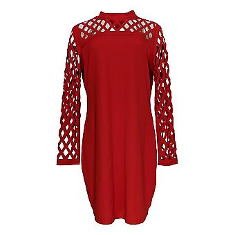 K Jordan Dress Cutout Detailed Long Sleeve Bodycon True Red