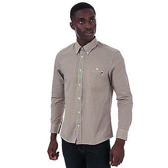 Män & apos; s Pretty Green Shenden Check Shirt i gult