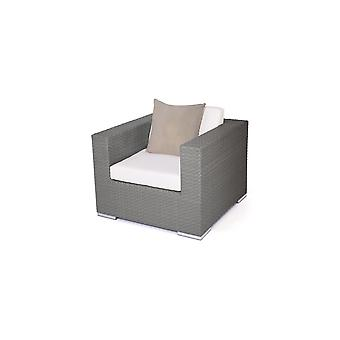 Polyrattan Cube Fauteuil - Anthracite