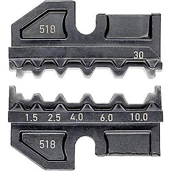 Knipex 97 49 30 كريمب inset غير معزولة بعقب موصلات 1.5 تصل إلى 4 mm² مناسبة للعلامة التجارية Knipex 97 43 200, 97 43 E, 97 43 E AUS, 97 43 E المملكة المتحدة, 97 43 E US