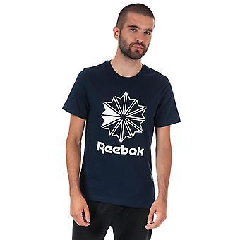 Men's Reebok Classics Classic Big Logo T-Shirt in blu