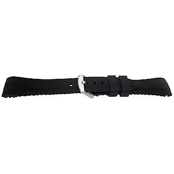Rolex gmt/oyster and seamster black silicone rubber watch strap 20mm