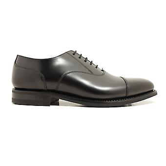 Loake 300 Cuir Poli Noir G Largeur Mens Oxford Lace Up Chaussures