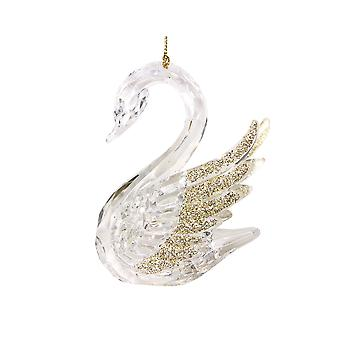 Gisela Graham Clear Acryl Swan Opknoping Decoratie