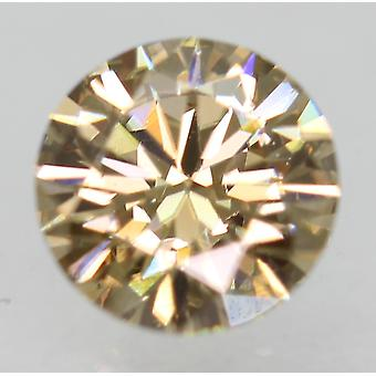 Cert 0.61 Carat Fancy Brown VVS2 Round Brilliant Natural Diamond 5.48mm 3EX