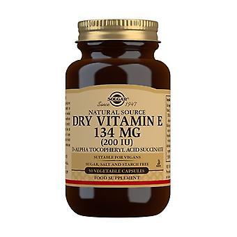 الجافة فيتامين E 200 وحدة دولية 50 كبسولات نباتية (134mg)